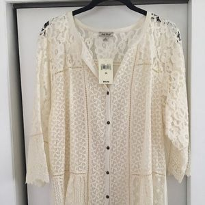 Lucky Brand Lace Blouse/Tee